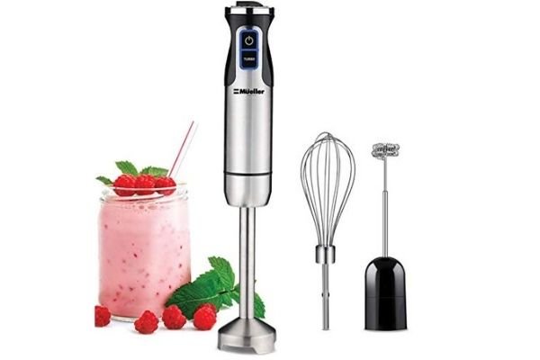 prepare smoothies with an immersion blender
