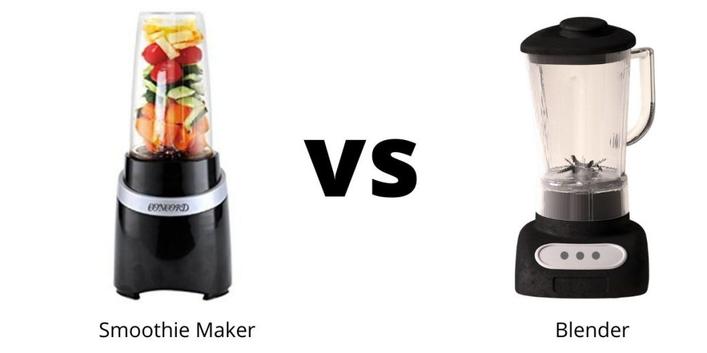 difference between blender and smoothie maker