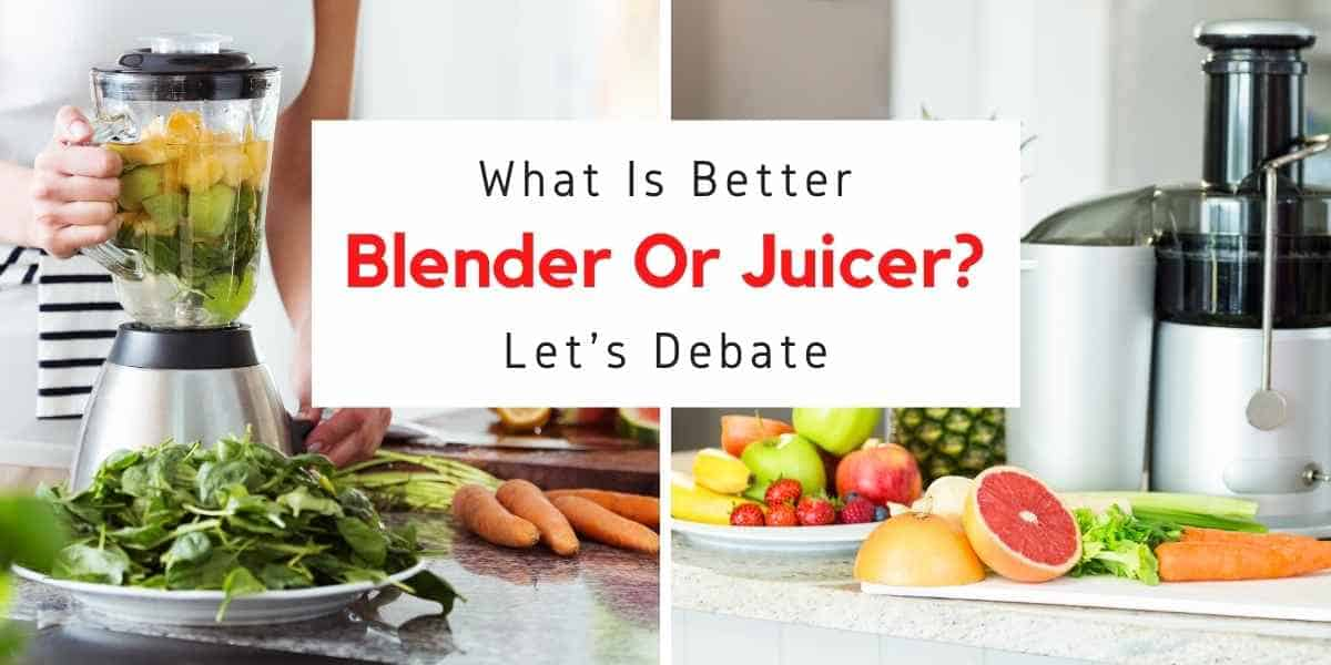 text reading what is the difference between a blender and a juicer
