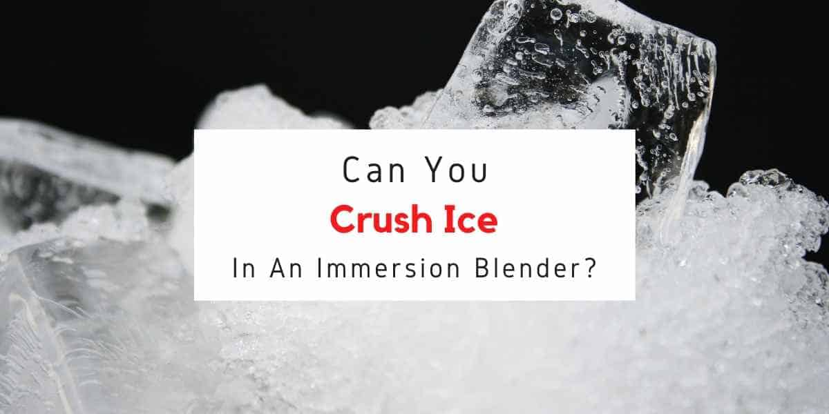 text reading can you crush ice in immersion blender