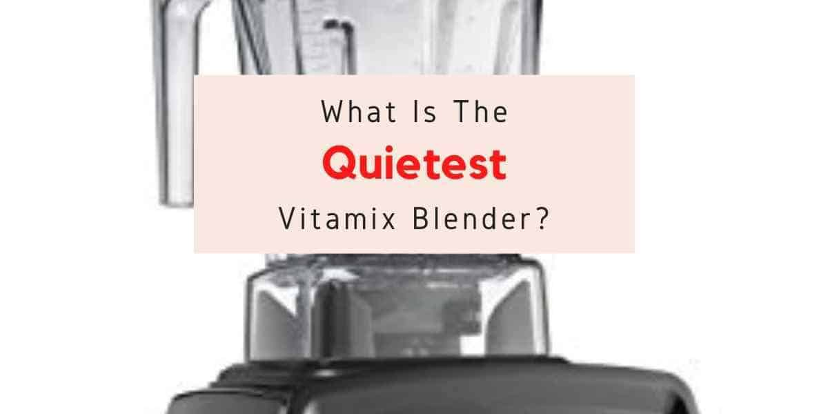 text reading what is the quietest vitamix blender?