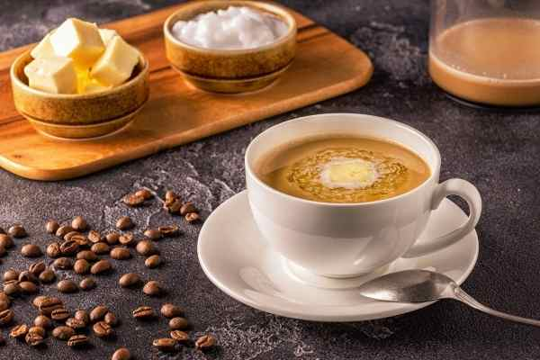 picture of bulletproof coffee in a cup
